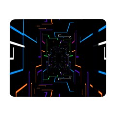Seamless 3d Animation Digital Futuristic Tunnel Path Color Changing Geometric Electrical Line Zoomin Samsung Galaxy Tab Pro 8 4  Flip Case by Mariart