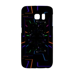 Seamless 3d Animation Digital Futuristic Tunnel Path Color Changing Geometric Electrical Line Zoomin Galaxy S6 Edge by Mariart