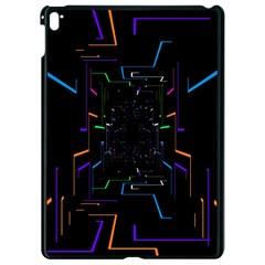 Seamless 3d Animation Digital Futuristic Tunnel Path Color Changing Geometric Electrical Line Zoomin Apple Ipad Pro 9 7   Black Seamless Case by Mariart