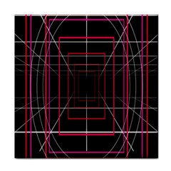 Retro Neon Grid Squares And Circle Pop Loop Motion Background Plaid Tile Coasters by Mariart
