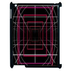 Retro Neon Grid Squares And Circle Pop Loop Motion Background Plaid Apple Ipad 2 Case (black) by Mariart