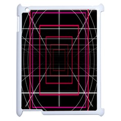 Retro Neon Grid Squares And Circle Pop Loop Motion Background Plaid Apple Ipad 2 Case (white) by Mariart