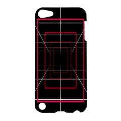 Retro Neon Grid Squares And Circle Pop Loop Motion Background Plaid Apple Ipod Touch 5 Hardshell Case by Mariart