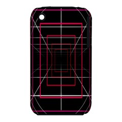 Retro Neon Grid Squares And Circle Pop Loop Motion Background Plaid Iphone 3s/3gs by Mariart
