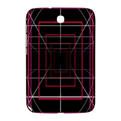 Retro Neon Grid Squares And Circle Pop Loop Motion Background Plaid Samsung Galaxy Note 8 0 N5100 Hardshell Case  by Mariart