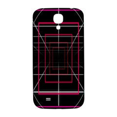 Retro Neon Grid Squares And Circle Pop Loop Motion Background Plaid Samsung Galaxy S4 I9500/i9505  Hardshell Back Case by Mariart