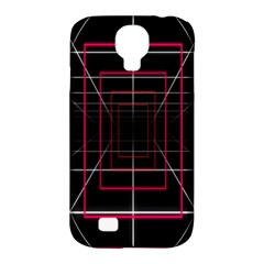 Retro Neon Grid Squares And Circle Pop Loop Motion Background Plaid Samsung Galaxy S4 Classic Hardshell Case (pc+silicone) by Mariart