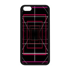 Retro Neon Grid Squares And Circle Pop Loop Motion Background Plaid Apple Iphone 5c Seamless Case (black) by Mariart