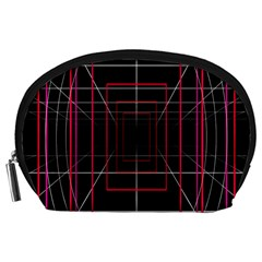Retro Neon Grid Squares And Circle Pop Loop Motion Background Plaid Accessory Pouches (large)  by Mariart