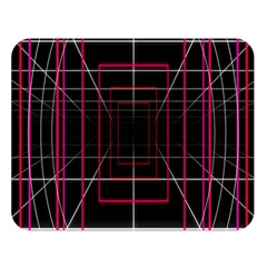 Retro Neon Grid Squares And Circle Pop Loop Motion Background Plaid Double Sided Flano Blanket (large)  by Mariart