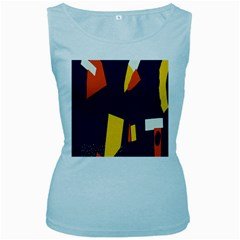 Slider Explore Further Women s Baby Blue Tank Top