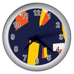 Slider Explore Further Wall Clocks (silver)  by Mariart