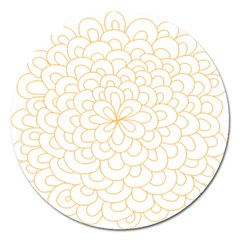 Rosette Flower Floral Magnet 5  (round) by Mariart