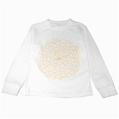Rosette Flower Floral Kids Long Sleeve T Shirts by Mariart