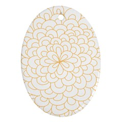 Rosette Flower Floral Oval Ornament (two Sides) by Mariart