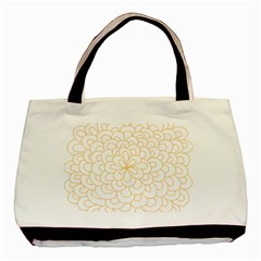 Rosette Flower Floral Basic Tote Bag (two Sides) by Mariart