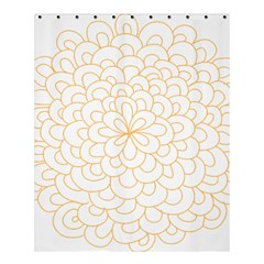 Rosette Flower Floral Shower Curtain 60  X 72  (medium)  by Mariart
