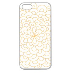 Rosette Flower Floral Apple Seamless Iphone 5 Case (clear) by Mariart