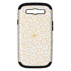 Rosette Flower Floral Samsung Galaxy S Iii Hardshell Case (pc+silicone) by Mariart
