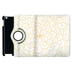 Rosette Flower Floral Apple Ipad 3/4 Flip 360 Case by Mariart