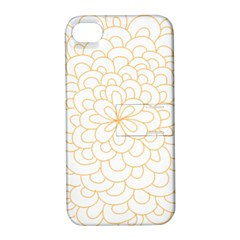 Rosette Flower Floral Apple Iphone 4/4s Hardshell Case With Stand by Mariart
