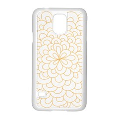 Rosette Flower Floral Samsung Galaxy S5 Case (white) by Mariart