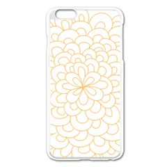 Rosette Flower Floral Apple Iphone 6 Plus/6s Plus Enamel White Case by Mariart