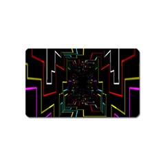 Seamless 3d Animation Digital Futuristic Tunnel Path Color Changing Geometric Electrical Line Zoomin Magnet (name Card)