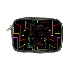 Seamless 3d Animation Digital Futuristic Tunnel Path Color Changing Geometric Electrical Line Zoomin Coin Purse by Mariart
