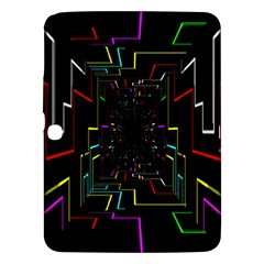 Seamless 3d Animation Digital Futuristic Tunnel Path Color Changing Geometric Electrical Line Zoomin Samsung Galaxy Tab 3 (10 1 ) P5200 Hardshell Case  by Mariart