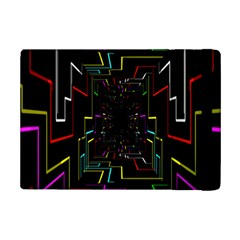 Seamless 3d Animation Digital Futuristic Tunnel Path Color Changing Geometric Electrical Line Zoomin Ipad Mini 2 Flip Cases by Mariart