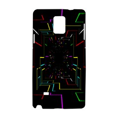 Seamless 3d Animation Digital Futuristic Tunnel Path Color Changing Geometric Electrical Line Zoomin Samsung Galaxy Note 4 Hardshell Case by Mariart