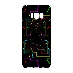 Seamless 3d Animation Digital Futuristic Tunnel Path Color Changing Geometric Electrical Line Zoomin Samsung Galaxy S8 Hardshell Case  by Mariart
