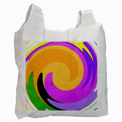 Spiral Digital Pop Rainbow Recycle Bag (two Side)  by Mariart