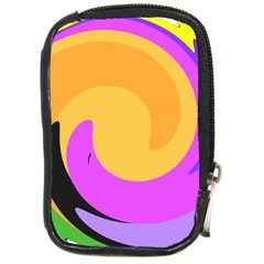 Spiral Digital Pop Rainbow Compact Camera Cases by Mariart