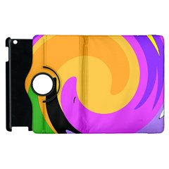 Spiral Digital Pop Rainbow Apple Ipad 3/4 Flip 360 Case by Mariart