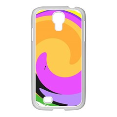 Spiral Digital Pop Rainbow Samsung Galaxy S4 I9500/ I9505 Case (white) by Mariart