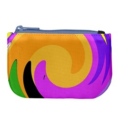 Spiral Digital Pop Rainbow Large Coin Purse by Mariart