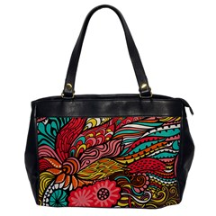 Seamless Texture Abstract Flowers Endless Background Ethnic Sea Art Office Handbags