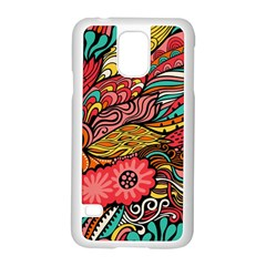 Seamless Texture Abstract Flowers Endless Background Ethnic Sea Art Samsung Galaxy S5 Case (white) by Mariart