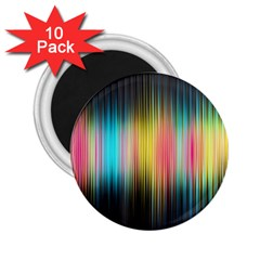 Sound Colors Rainbow Line Vertical Space 2 25  Magnets (10 Pack)  by Mariart