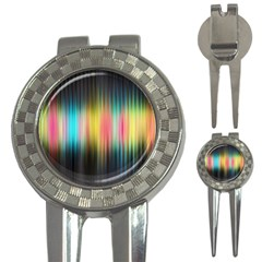 Sound Colors Rainbow Line Vertical Space 3 In 1 Golf Divots by Mariart