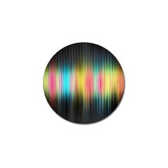 Sound Colors Rainbow Line Vertical Space Golf Ball Marker (10 Pack) by Mariart