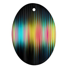 Sound Colors Rainbow Line Vertical Space Oval Ornament (two Sides) by Mariart