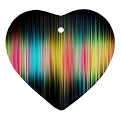 Sound Colors Rainbow Line Vertical Space Heart Ornament (two Sides)