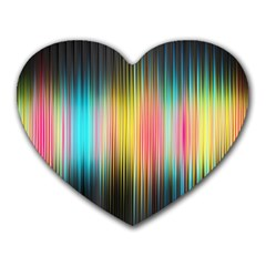 Sound Colors Rainbow Line Vertical Space Heart Mousepads by Mariart