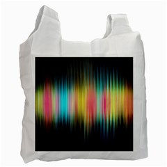 Sound Colors Rainbow Line Vertical Space Recycle Bag (one Side) by Mariart