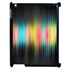 Sound Colors Rainbow Line Vertical Space Apple Ipad 2 Case (black) by Mariart