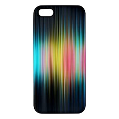Sound Colors Rainbow Line Vertical Space Apple Iphone 5 Premium Hardshell Case by Mariart