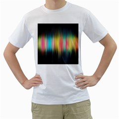 Sound Colors Rainbow Line Vertical Space Men s T-shirt (white)  by Mariart